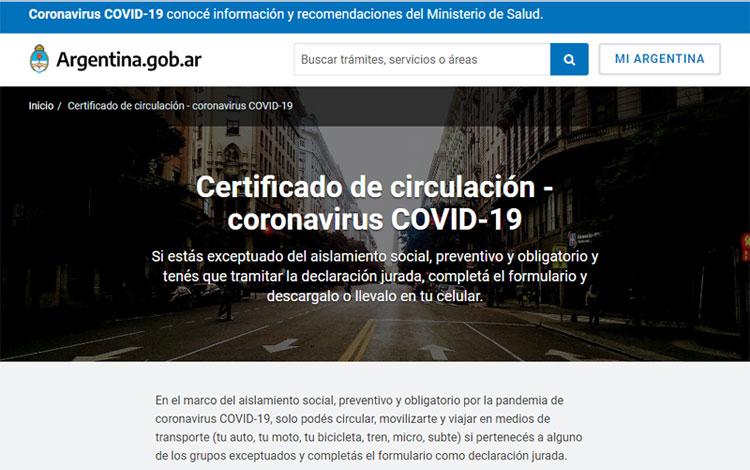 Nuevo «certificado único habilitante para circulación». Decisión administrativa 897/2020 –
